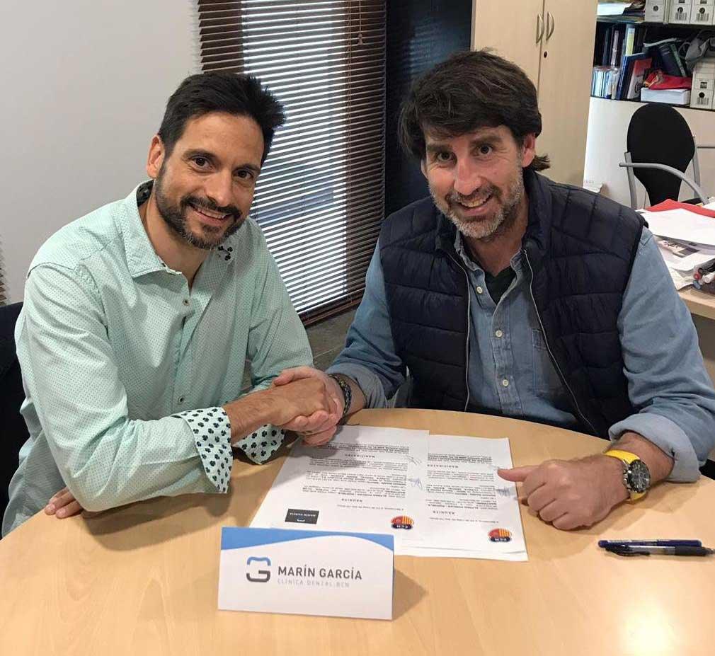 Acuerdo patrocino FC Martinenc Clinica Dental Marín-García